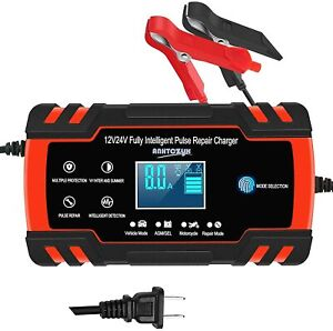 Car Battery Charger 12v 24v 6 150ah Motorcycle Pulse Repair Type Agm Charger
