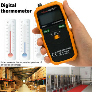 Industrial Thermometer Handheld Lcd Digital Display With Thermocouple K Type