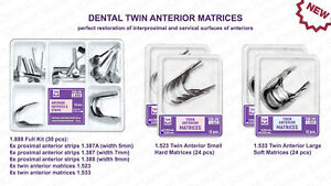 Dental Anterior Twin Matrices Strips Restoration Proximal Cervical Matrix Kit