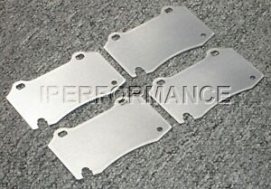 Titanium Brake Heat Shield Set Notched Roush Mustang Cobra R Bbk 94 04 Front
