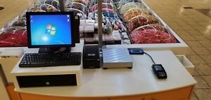 Complete Touch Screen Pos System Cash Register With Scale