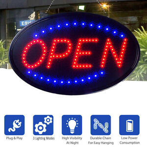 Ultra Bright Open Business Sign Led Neon Light Animated Motion W on off Switch
