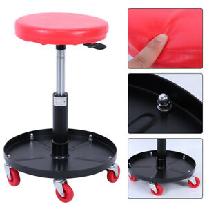 New Pneumatic Stool Adjustable Mechanic Rolling Lift Seats Chair For Car Garage