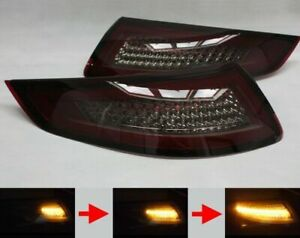 Porsche 911 997 Smoked Sequential Dynamic Led Lightbar Tail Lights 2004 2008