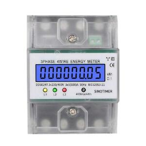 3 Phase 4 Wire Electronic Power Consumption Energy Meter Lcd Digital Backlight
