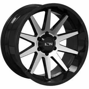 20x10 Ion 143 6x5 5 6x139 7 19 Black Machined Wheels Rims Set 4