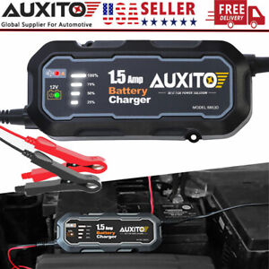 Smart Car Auto Motorcycle Rv Battery Charger Float Trickle Maintainer 12v 1500ma