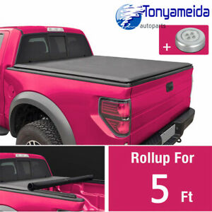 For 2005 18 Nissan Frontier Bed Fleetside Soft Vinyl Roll Up Tonneau Cover 5 Ft