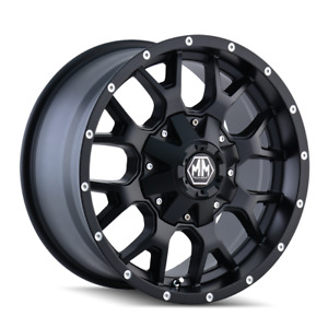 18 Inch 6x135 139 7 4 Wheels Rims Mayhem Warrior 8015 18x9 18mm Black