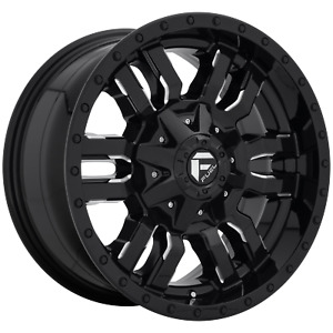 24 Inch 6x135 139 7 Wheel Rim Fuel D595 24x14 75mm Black Milled