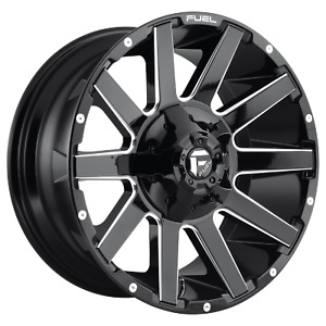 22 Inch 6x135 139 7 Wheel Rim Fuel D615 22x10 19mm Black Milled