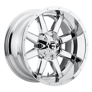 22 Inch 6x135 139 7 4 Wheel Rims Fuel D536 22x9 5 20mm Chrome