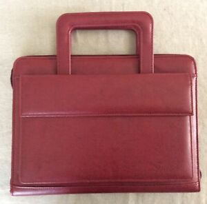 Franklin Covey 365 Day One Red Simulated Leather Zip Binder Planner Handles