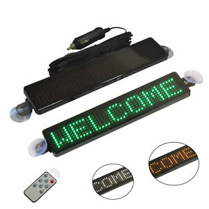 12v Car Led Sign Programmable Message Scrolling Display Board Remote Control