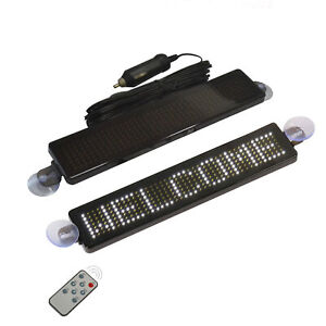 Ultra thin Car Rear Window Led Sign Programmable Message Scrolling Display Board