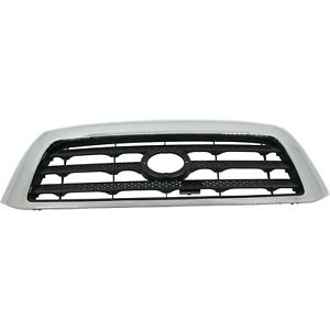 Grille For 2007 2009 Toyota Tundra Chrome Shell W Black Insert Plastic
