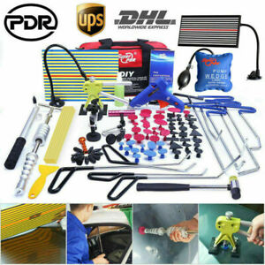 Pdr Tools Push Rod Paintless Dent Repair Puller Hail Car Body Damage Removal Set