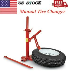 Manual Tire Changer Bead Breaker Tool Machine For Car Truck Trailer Portable Us