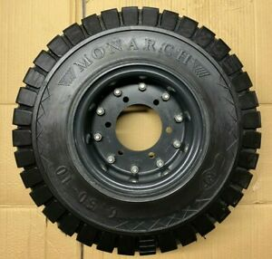 Forklift Monarch Wheel And Tire 6 50 10