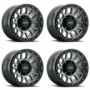 Set 4 20x9 Vision Off Road Nemesis Gunmetal 8x180 Truck Wheels 10mm Rims W Lugs