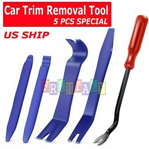 5pcs Car Trim Removal Tool Hand Tools Pry Bar Panel Door Interior Clip Kit