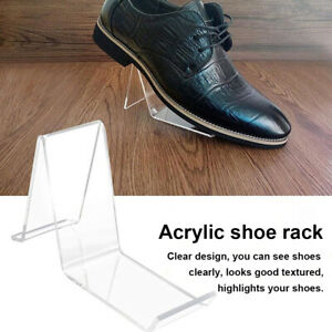 Shoe Display Stand Retail Angled Portable Sandal Holder Corner Clear Acrylic