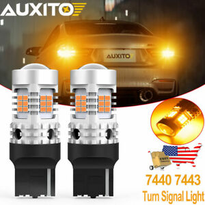 Auxito 7440 Amber Led Turn Signal Light Bulbs Anti Hyper Flash Canbus Error Free