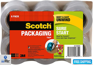 Shipping Packing Tape 6 Rolls 3m Scotch Clear Sealing 1 88 X 25 Yards Free Ship