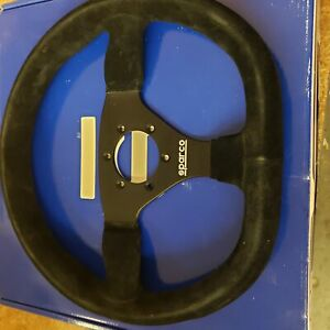 Open Box Sparco 015trgs1tuv L360 Street Steering Wheel Suede Cover 330 Mm Dia