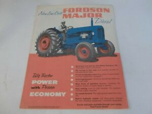 Fordson Major Diesel With 6 speed Engine Sales Brochure