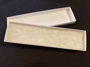 200 Jewelry Gift Boxes White Swirl Embossed Cotton Filled 8 X 2 X 7 8