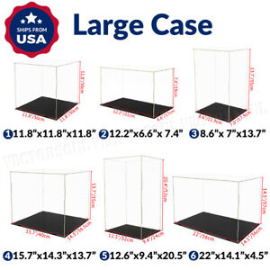 Large Acrylic Display Case Dustproof Box Action Figures For Collectibles Diecast