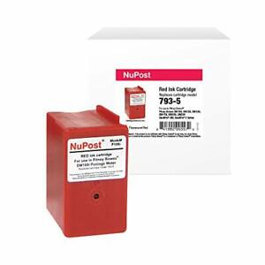 Nupost Brand Replacement Postage Meter Cartridge For Pitney Bowes 793 5 Red