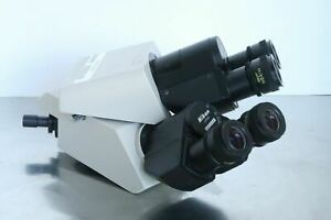 Nikon Teaching Dual Binocular Head Eyepieces For Labophot Optiphot Microscope