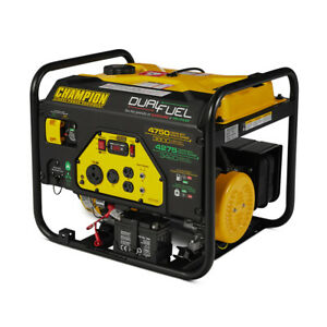 Champion Cpe gn 76533 3800 Watt Portable Electric Start Dual Fuel Generator