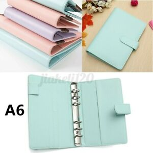 A6 Loose Leaf Notebook Leaf Ring Leather Cover Weekly Binder Planner Diary Us