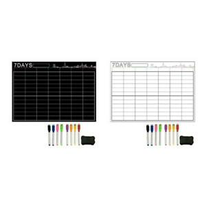 7 Days Large Magnetic White Board Weekly Planner For Kitchen Refrigerator