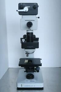 Leitz Laborlux D Trinocular Microscope 10x 40x Objectives Wild Mps11 Camera