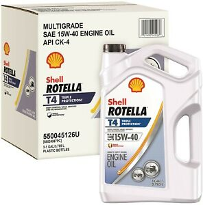 6 Pack Shell Rotella T4 15w 40 Heavy Duty Diesel Oil 6 Gallon Free Shipping