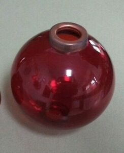 4 5 Red Glass Ball For Weathervane Or Lightening Rods Fits 3 4 Rod Or 5 8