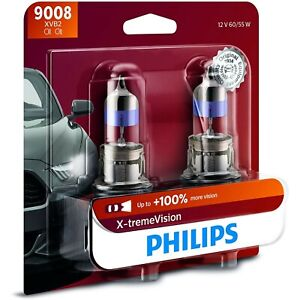 9008xvb2 Philips New Head Light Driving Headlamp Headlight Bulbs Set Of 2 Pair
