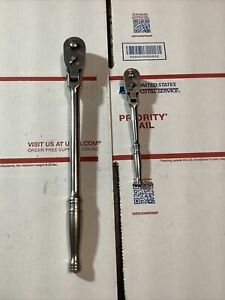 Snap On Tools Frlf80 3 8 And Trf72 1 4 Quick Release Flex Head Ratchet