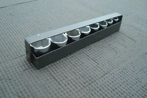 Vintage Craftsman V Series 6 Point Socket Set 3 8 Drive Sae Metal Tray Usa