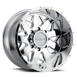 20 Inch 8x180 4 Wheels Rims Raceline 939c Disruptor 20x9 12mm Chrome