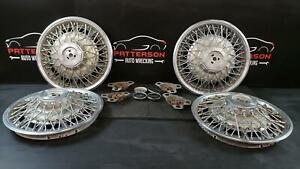 1979 Buick Riviera Set Of 4 Wire Type Style Wheel Covers 15 Inch Chrome