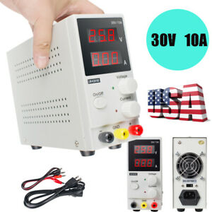 New 30v 10a Adjustable Dc Power Supply Precision Variable Digital Lab Test Led
