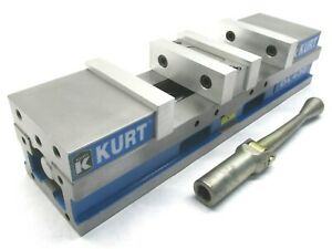 Clean Kurt 4 Anglock Doublelock Cnc Machine Vise W Jaws Handle dl 430