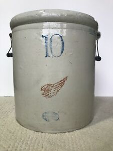 Vintage Antique Red Wing Union Stoneware 10 Gallon Crock Very Good Condition
