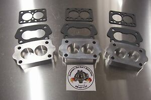 For Offenhauser Intake Tri Power Riser Rochester Small 2g Manifold Spacer 3 Pack