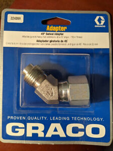 Graco 45 Degree Swivel Extension Adapter 7 8 Thread 3600 Psi 224399